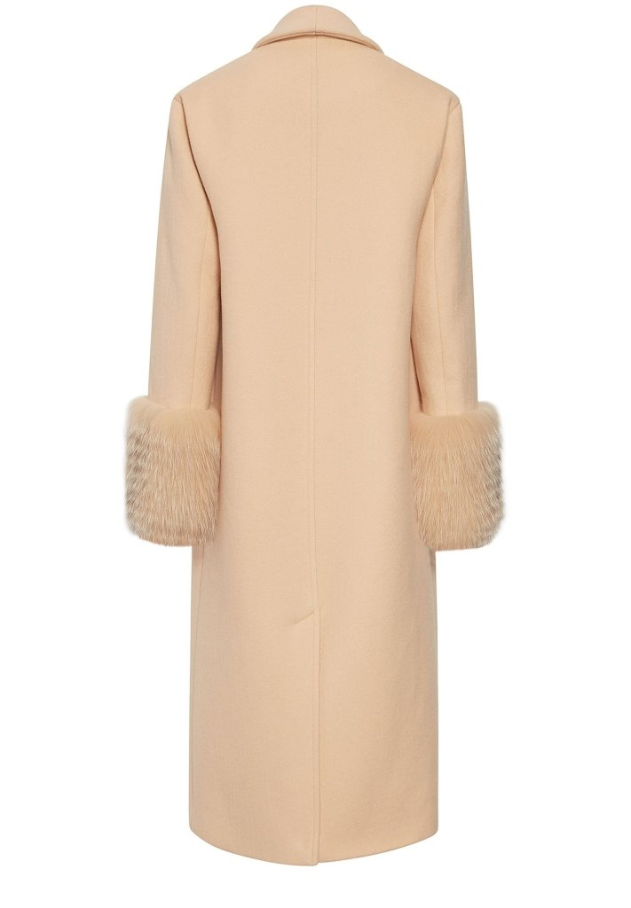 Product 4977458806870, CASHMERE WOOL FUR COAT - LAPOINTE