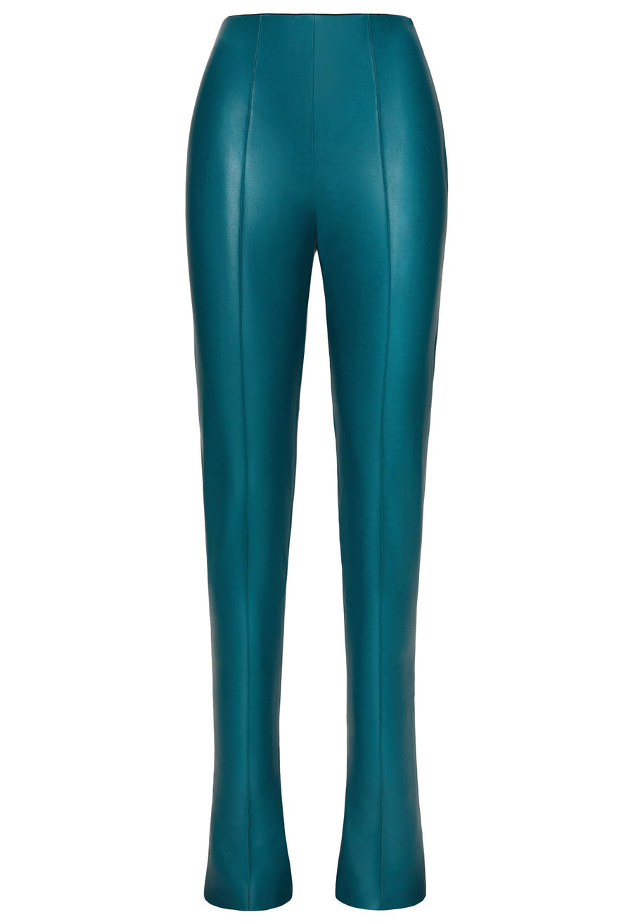 Product 4697210257494, FAUX LEATHER PINTUCK PANT - LAPOINTE