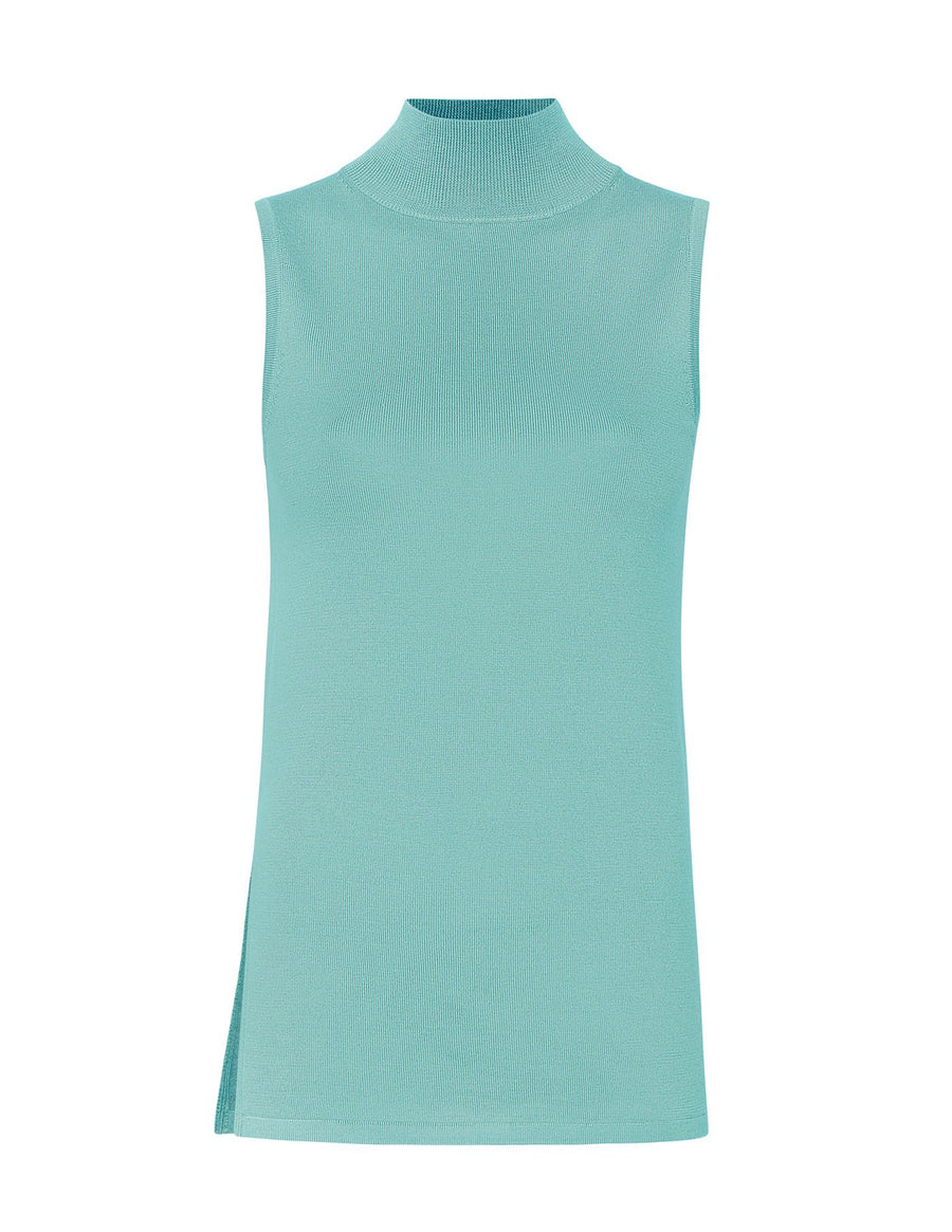 Product 6564341448790, SILK CASHMERE MOCK NECK TANK - LAPOINTE