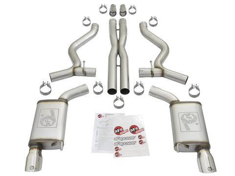 aFe® Mach Force XP™ 304 SS Cat-Back Exhaust System with Split Rear Exit