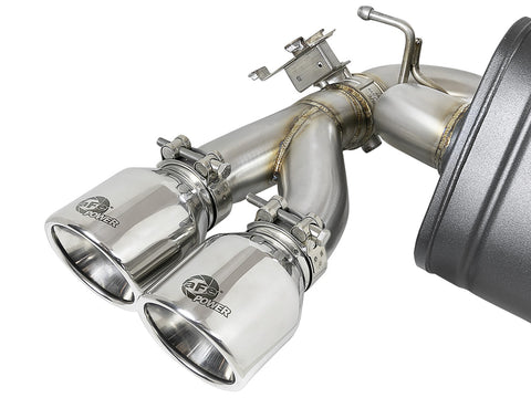 aFe® Mach Force XP™ 304 SS Downpipe-Back Exhaust System with Quad Rear Exit