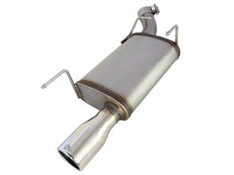 aFe® 49-43048 - Mach Force XP™ 409 SS Axle-Back Exhaust System with Single Rear Exit