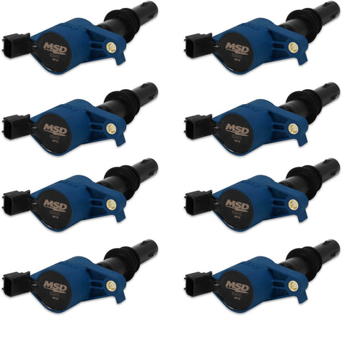 MSD IGNITION COIL 2004-2008 FORD 4.6L/5.4L 3-VALVE ENGINES, BLUE, 8-PACK