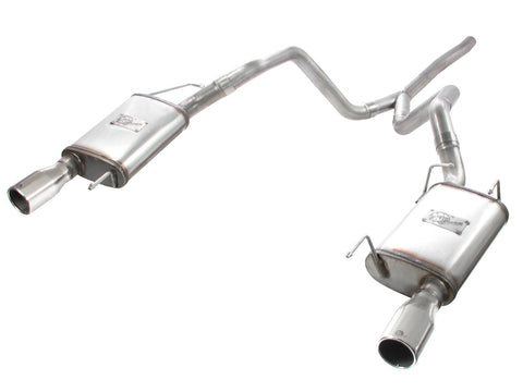 aFe® 49-43047 - Mach Force XP™ 409 SS Cat-Back Exhaust System with Split Rear Exit