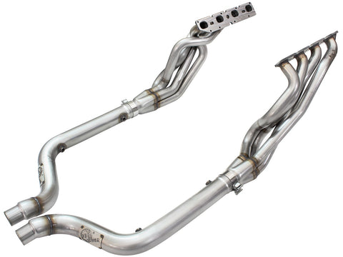aFe® 48-32011-YN - Twisted Steel™ Race 304 SS Long Tube Exhaust Headers with Non-Catted Y-Pipe