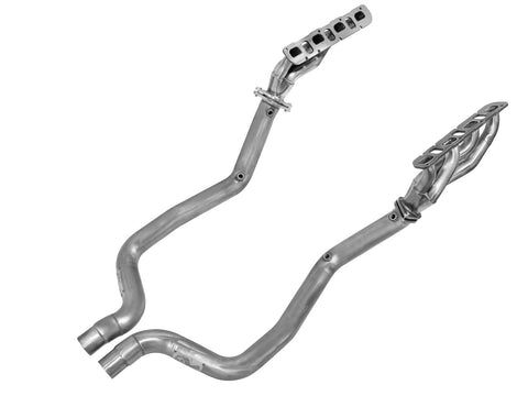 aFe® 48-42002-YN - Twisted Steel™ 409 SS Mid-Length Tube Exhaust Headers with Non-Catted Y-Pipe