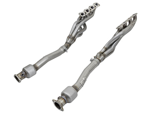 aFe® (04-15) Titan 409SS Twisted Steel Long Tube Headers with Mid-Pipes