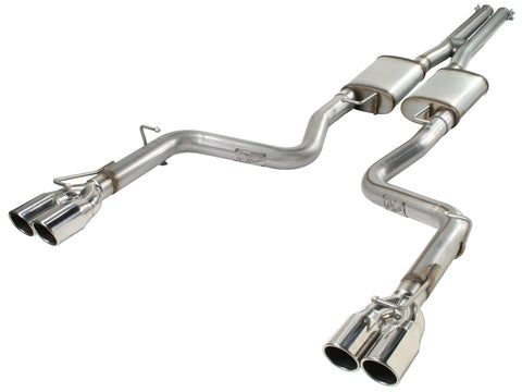 aFe® 49-42017 - Mach Force XP™ 409 SS Cat-Back Exhaust System with Quad Rear Exit