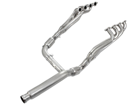 aFe® (14-19) Silverado/Sierra 409SS Twisted Steel Long Tube Headers with Y-pipe