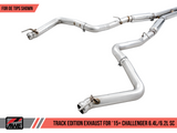 Awe Tuning® (15-21) Challenger SRT Track Edition™ 304 SS Cat-Back System with Split Rear Exit