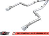 Awe Tuning® (15-21) Charger SRT Track Edition™ 304SS Cat-Back System with Split Rear Exit