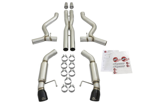 aFe® Mach Force XP™ Stainless Steel Aggressive Toned Cat-Back Exhaust System with Split Rear Exit