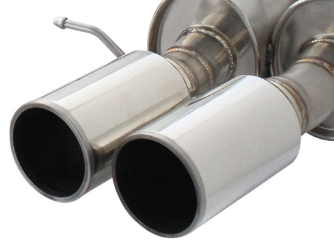 aFe® 49-36317-C - Mach Force XP™ 304 SS Cat-Back Exhaust System with Quad Rear Exit