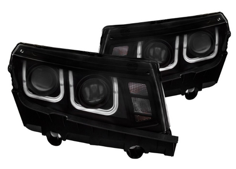 Anzo® 121508 - Black LED U-Bar™ Projector Headlights
