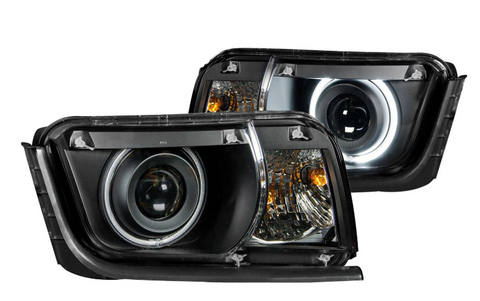 Anzo® 121312 - Black CCFL Halo Projector Headlights