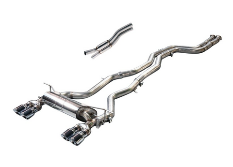 Awe Tuning® - SwitchPath™ 304 SS Exhaust System with Quad Rear Exit