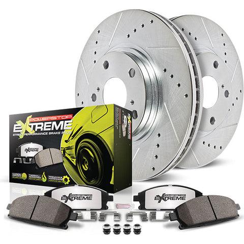Power Stop®  K1531-26 - Z26 Street Warrior Rear Brake Kit