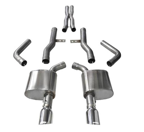Corsa® - Xtreme™ 304 SS Cat-Back Exhaust System with Dual Rear Exit