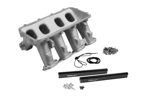 Holley® - Hi-Ram Modular Lower Satin EFI Cast Intake Manifold