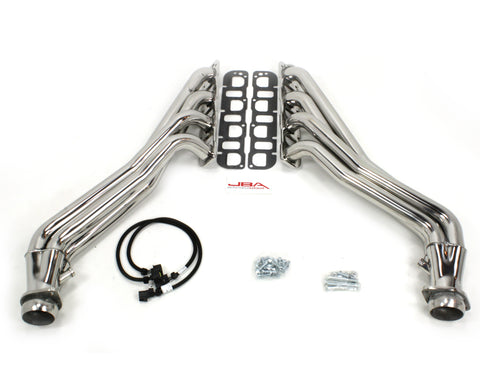 JBA® 36967S - Cat4ward 304 SS Polished Long Tube Exhaust Headers