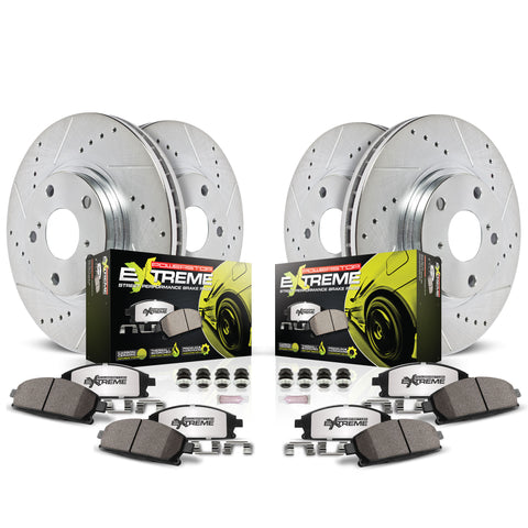 Power Stop® K5728-26 - Z26 Street Warrior Brake Kit