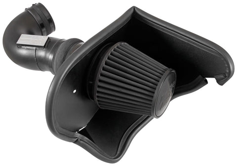 K&N® 71-3092 - 71 Series Blackhawk Induction™ Aluminum Black Powder Coated Cold Air Intake System