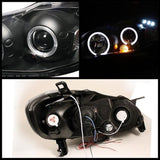 Spyder® 5011787 - Black Projector Led Halo Head Lights