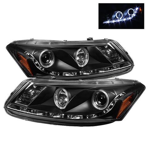 Spyder® 5010667 - Black Projector LED Halo Head Lights