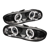 Spyder® 5029980 - Black Projector CCFL Halo Head Lights