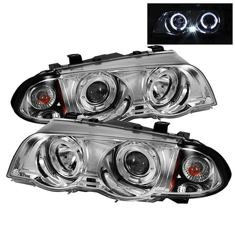 Spyder® 5008954 - Chrome Projector LED Halo Head Lights