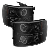 Spyder®  5078735 - Black Smoke Projector CCFL Halo Head Lights