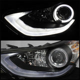Spyder®  5073662 - Black Projector LED Halo Head Lights