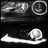 Spyder® 50742763 - Black Projector LED DRL Head Lights