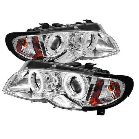 Spyder® 5042439 - Chrome Projector CCFL Halo Head Lights