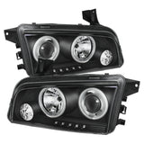 Spyder® 5009715 - Black Projector CCFL Halo Head Lights