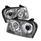 Spyder® 5008046 - Chrome Projector LED Halo Head Lights