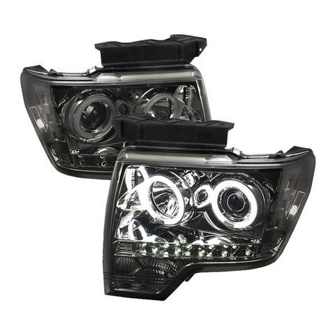 Spyder® 5039279 - Black Smoked Projector CCFL Halo Head Lights