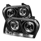 Spyder®  5008046 - Black Projector Led Halo Head Lights