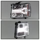 Spyder® 5083586 - Chrome Projector LED DRL Head Lights