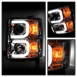 Spyder® 5079480 - Chrome Projector LED DRL Head Lights