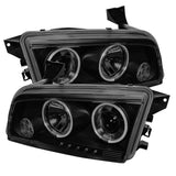 Spyder® 5078766 - Black Smoke Projector CCFL Halo Head Lights