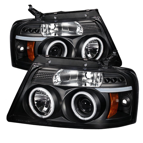 Spyder® 5030085 - Black Projector CCFL Halo Head Lights