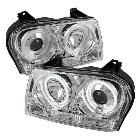 Spyder® 5009173 - Chrome Projector CCFL Halo Head Lights