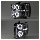 Spyder® 5033871 - Chrome Projector CCFL Halo Head Lights