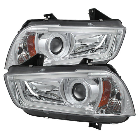 Spyder® 5074218 - Chrome Projector HID/Xenon Head Lights