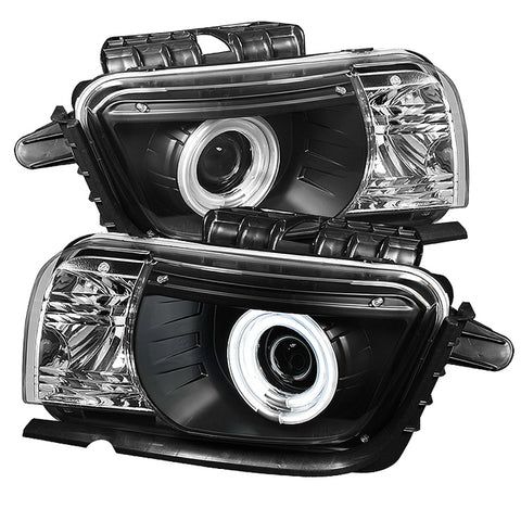 Spyder® 5042354 - Black Projector CCFL Halo Head Lights