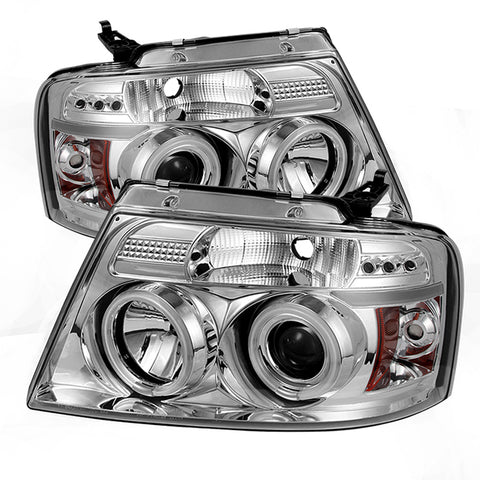 Spyder® 5030092 - Chrome Projector CCFL Halo Head Lights