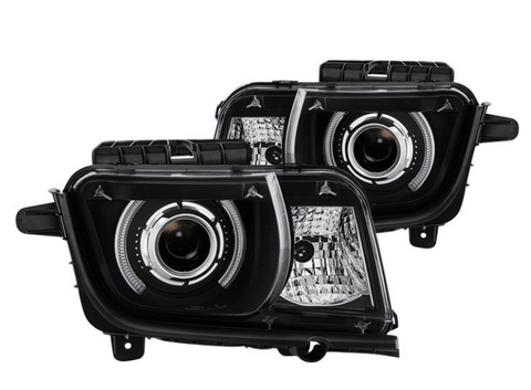 Spyder® PRO-JH-CCAM10-LED-BK - Black LED Halo Projector Headlights
