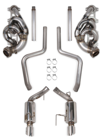 "Hooker® (05-10) Mustang GT 304SS 1-5/8"" Shorty Headers + 304SS 3"" Cat-Back System with Mufflers"