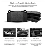 Power Stop® (16-21) Camaro V6 Track Day Carbon Fiber Metallic Compound Rear Brake Pads